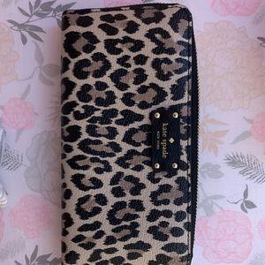 NWT Leopard Kate Spade Wallet